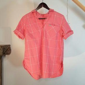 Columbia T-shirt Button Short Sleeves